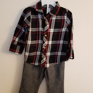 Old Navy Button Down Shirt with Black Pants Set